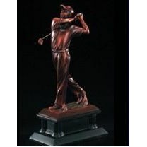 "Bronze Male Golfer Resin Award w/ Black Base (16"")"
